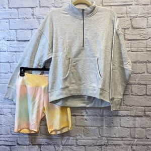 Sweatshirt Tie Dye Short Outfit Bundle Set L Large